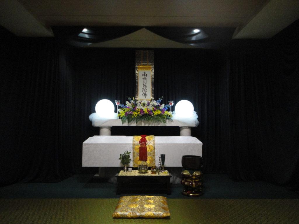 北斎場にて此花区の生活保護の方のお葬式をお手伝いしました。