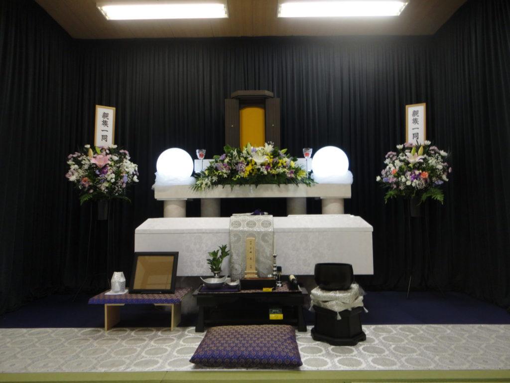 小林斎場にて創価学会 友人葬での福祉葬での葬儀施行例